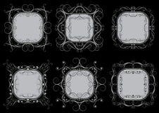 Комплект серых рамок Стоковая Фотография RF