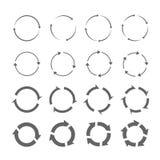 Комплект серых стрелок круга Стоковое Фото