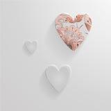 Комплект сердец вектора сделанных из стекла Стоковое Фото