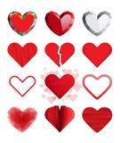Комплект сердец вектора иллюстрация штока