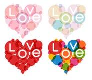 Комплект сердца цвета Стоковая Фотография