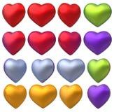 комплект сердца 3D Стоковая Фотография