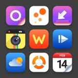 Комплект сети и социальных символов средств массовой информации Стоковое фото RF