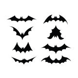 Комплект символа летучей мыши Стоковые Изображения