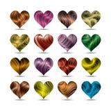 Комплект символа сердца дня валентинки Стоковое Изображение RF