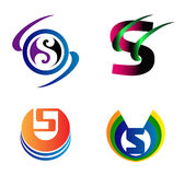 Комплект символов алфавита и элементы письма s, такого логотипа Стоковые Фотографии RF