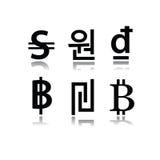 Комплект символов валюты Стоковая Фотография