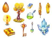 Комплект символов волшебства Стоковые Изображения RF