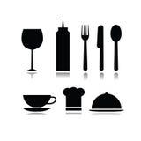 Комплект символов еды и напитка Стоковое Изображение