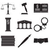 Комплект символов закона Стоковая Фотография RF