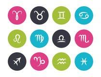 Комплект символов зодиака чертежа руки Стоковые Изображения