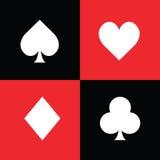 Комплект символов играя карточки Стоковое Изображение RF