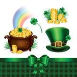 Комплект символов дня St. Patrick, комплект значков дня St. Patrick Стоковая Фотография RF