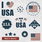 Комплект символов США Стоковое Фото