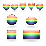 Комплект символов LGBT Стоковая Фотография RF