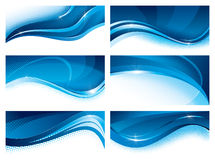 Комплект сини знамен Стоковые Изображения RF