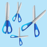 Комплект сини 4 ножниц Стоковое Фото