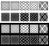 Комплект скачками решеток, сеток Пересекая линии с spherica Стоковое Фото