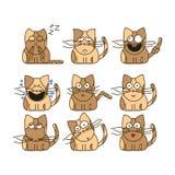 Комплект смайликов кота Стоковое фото RF