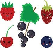 Комплект смешных ягод вектора Стоковая Фотография