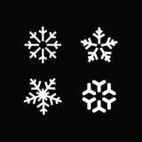 Комплект снежинки зимы Стоковое Изображение