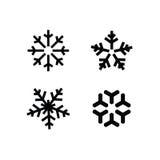 Комплект снежинки зимы Стоковое Фото