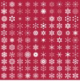 Комплект снежинок Стоковые Изображения RF