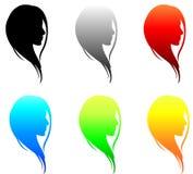 комплект собрания девушек лицевой Стоковое Изображение RF