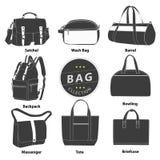 Комплект собрания сумок Стоковые Фото