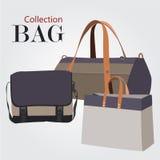 Комплект собрания сумок Стоковые Изображения