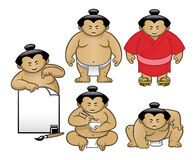 Комплект собрания характера Sumo Стоковые Фото