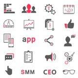 Комплект современных значков app, seo, smm Стоковая Фотография