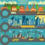 Комплект современных элементов города для создавать ваши собственные карты ci Стоковое Изображение