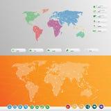 Комплект соединения пользовательского интерфейса мира Стоковое Изображение RF