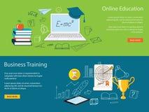 Комплект содержания для вебсайта онлайн tra образования и дела Стоковое фото RF