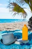 Комплект солнцезащитного крема Стоковое Фото