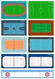 Комплект спортивных площадок в векторе Стоковые Фотографии RF