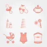 комплект способа младенца девушка иллюстрация вектора