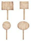 Комплект старого выдержанного деревянного дорожного знака Стоковое Фото