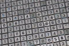 Комплект старой кнопки номера шкалы Стоковая Фотография