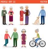 Комплект старые люди Стоковые Фото