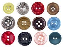 Комплект старых античных кнопок для scrapbooking Стоковая Фотография