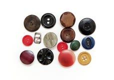 Комплект старых кнопок от одежды Стоковое Изображение RF