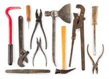 Комплект старых домашних инструментов статей работника Стоковые Изображения