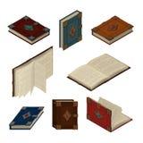 Комплект старых равновеликих книг Стоковое Изображение