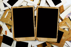 Комплект старых скольжений, фото и фильма на таблице Стоковое Изображение
