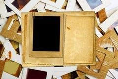 Комплект старых скольжений, фото и фильма на таблице Стоковая Фотография RF