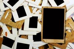 Комплект старых скольжений, фото и фильма на таблице Стоковая Фотография
