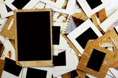 Комплект старых скольжений, фото и фильма на таблице Стоковые Фото