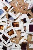 Комплект старых скольжений, фото и фильма на таблице Стоковое Изображение RF